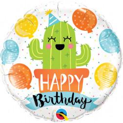 Folienballon Birthday Party Cactus 45cm