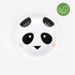 Pappteller mini Panda 8 Stück