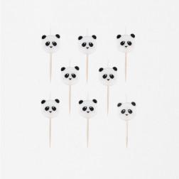 Kerzen mini Panda 8 Stück