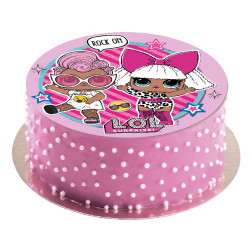 Tortenaufleger Oblate LoL pink 20cm
