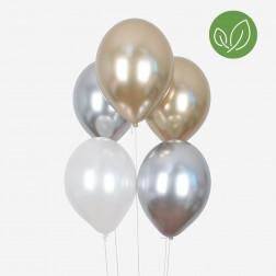 Luftballons CHROME mix 10 Stück