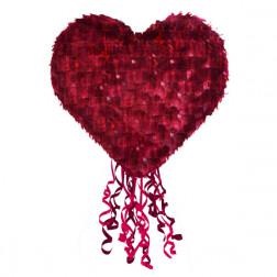 Pull Pinata Herz rot 40cm