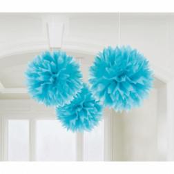 Pom Poms 40cm Blau 3 Stück