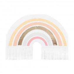 Servietten Gold Natural Rainbow Fringe 16 Stück