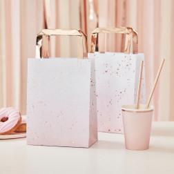 Tüte Pink Ombre Watercolour Rosegold 5 Stück