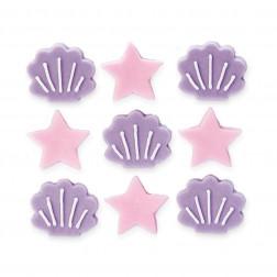 Zucker Dekor Muscheln Sterne 9 Stück