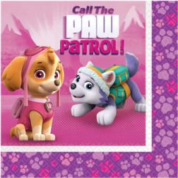 Servietten Pink Paw Patrol 20 Stück