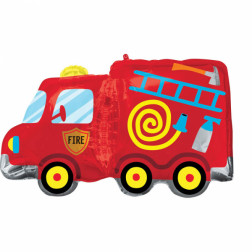 Folienballon Feuerwehrauto 76cm