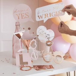 Photobooth Customisable Bride Party 10 Props