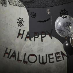 Banner Happy Halloween Blood drop