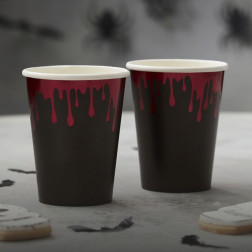 Pappbecher Blood Drip 8 Stück