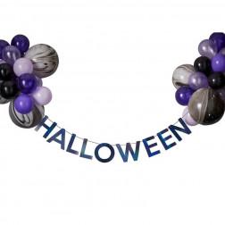 Halloween Banner mit 24 Luftballons