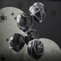 Luftballons mit Spinnennetz 5 Stk