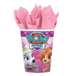 Pappbecher Pink Paw Patrol 8 Stück