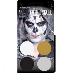Gothic Skull Aqua Schminke 4er Set