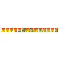 Dino Happy Birthday Banner 2,2m