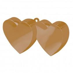Ballon Gewicht  - Gold Zweier Herz