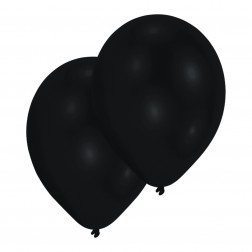 Luftballons Metallic Schwarz 10 Stück