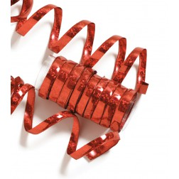 Luftschlangen rot 10 Ringe