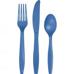 Plastikbesteck Blau 24Teilig