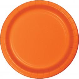 Pappteller Orange 8 Stück