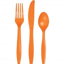 Plastikbesteck Orange 24Teilig