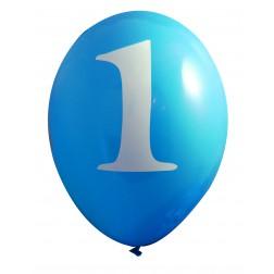 Luftballons Blau 1. Geburtstag