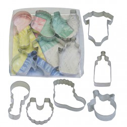 Ausstechformen Baby Shower 6er Set