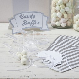 Candy Bar Kit Vintage Lace Silber