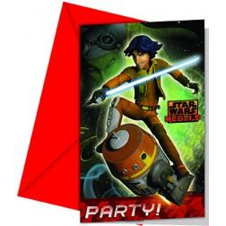 Star Wars Rebels Einladungskarten 6 Stück
