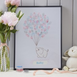 Fingerprints Elefantenbaby mit Luftballons