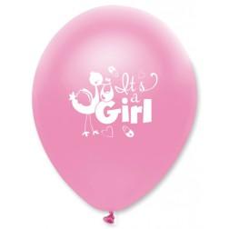 Luftballons Storch It s a Girl 6 Stück