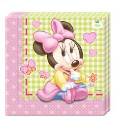Baby Minnie Girl Servietten 20 Stück
