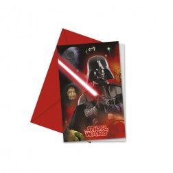 Star Wars Heroes Einladungskarten 6 Stück