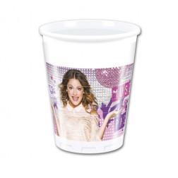 Violetta Plastik Becher  8 Stück