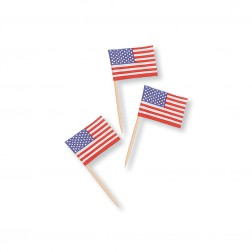 Amerika Party Picks 30 mini Flaggen