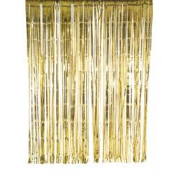 Lametta Vorhang Gold 2 x 2m