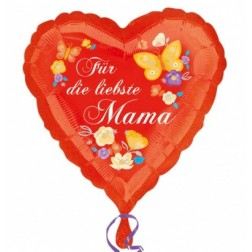 Für die liebste Mama Herz Folienballon 43cm