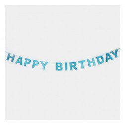 Happy Birthday Buchstaben Banner Blau 1,85m