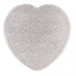Tortenplatte Herz Silber 33cm