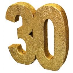 Tisch Deko 30. Geburtstag Gold
