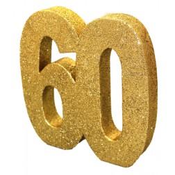 Tisch Deko 60. Geburtstag Gold