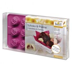Silikon Schokoladenform Rose mit Rezepten