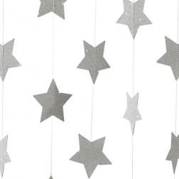 Girlande Glitter Sterne Metallic Perfection 5m