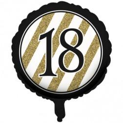 Folienballon Black Gold 18. Geburtstag
