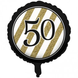 50. Geburtstag Black Gold Folienballon