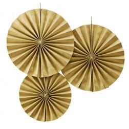 Rosetten Glitter Gold 3 Stück