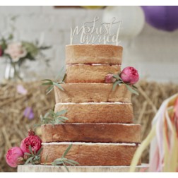 Just Married Holz Toppers