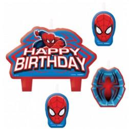 Spider Man kerzen 4 Stück