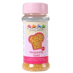 FunCakes Streudekor Nonpareils Gold 80g